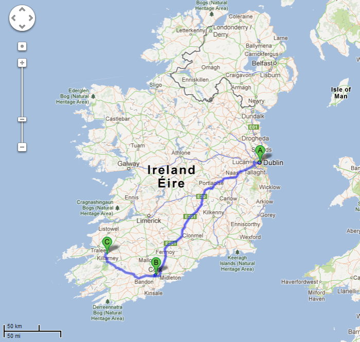 cork to kerry