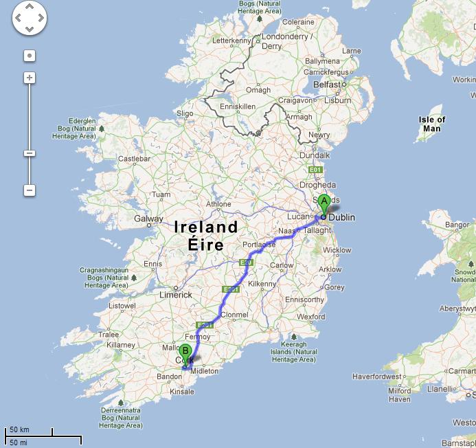 Dublin to Cork